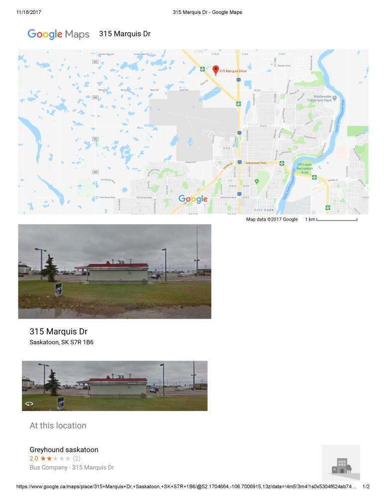 Greyhound Saskatoon